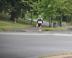 Wayne Rooney walks back to the DC United stadium by himself after practice - 13 Aug 2018
