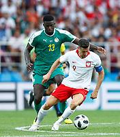 Alfred Ndiaye (Senegal)  e Robert Lewandowski (Poland)<br /> Moscow 19-06-2018 Football FIFA World Cup Russia  2018 <br /> Poland - Senegal / Polonia - Senegal <br /> Foto Matteo Ciambelli/Insidefoto