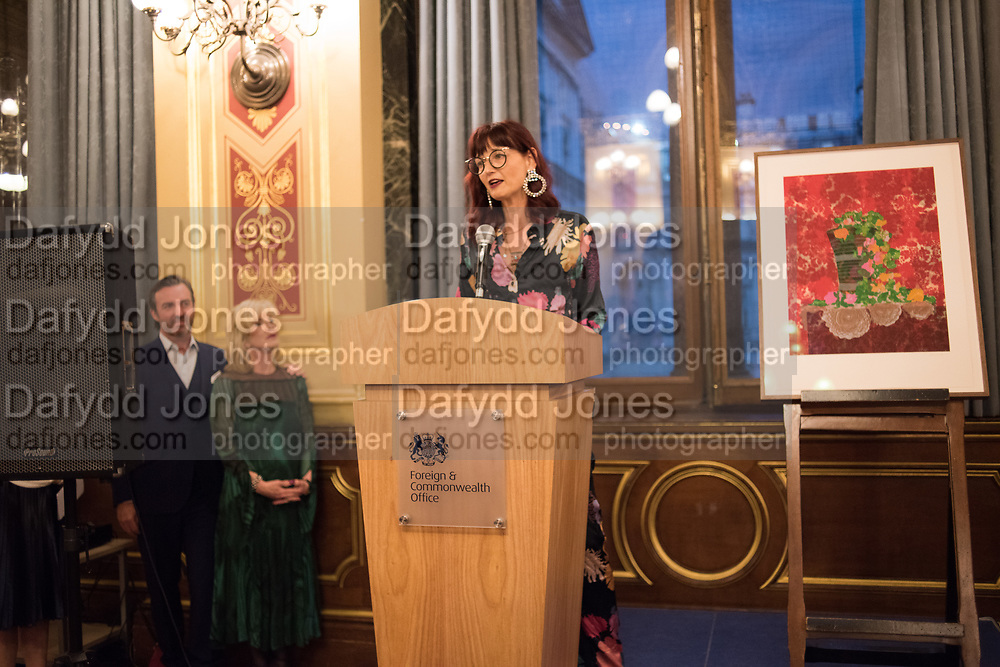 CANDIDA GERTLER, TenTen. The Government Art Collection/Outset Annual Award. Champagne reception to announce the inaugural artist Hurvin Anderson and unveil his 2018 print. Locarno Suite, Foreign and Commonwealth Office. SW1. 2 October 2018