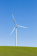 wind turbine from a wind farm in a rural paddock in the countryside near rural Glen Thompson, Victoria, Australia <br /> <br /> Editions:- Open Edition Print / Stock Image