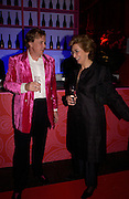 Theo Fennell and Madame Dominique Heriard Dubreuil, Hot Ice party hosted by Dominique Heriard Dubreuil and Theo Fennell, ( Remy Martin and theo Fennell) at 35 Belgrave Sq. London W1. 26 October 2004. ONE TIME USE ONLY - DO NOT ARCHIVE  © Copyright Photograph by Dafydd Jones 66 Stockwell Park Rd. London SW9 0DA Tel 020 7733 0108 www.dafjones.com