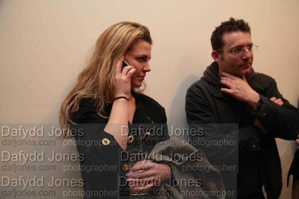 Sarah Baker and Matt Franks, Planit- Exhibition of work by Ian Munroe. Haunch of Venison. London. 1 March 2007.  -DO NOT ARCHIVE-© Copyright Photograph by Dafydd Jones. 248 Clapham Rd. London SW9 0PZ. Tel 0207 820 0771. www.dafjones.com.