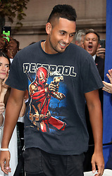 August 23, 2018 - New York City, New York, U.S. - Tennis player NICK KYRGIOS attends the .2018 Lotte Palace Invitational Badminton Tournament held at the Lotte New York Palace. (Credit Image: © Nancy Kaszerman via ZUMA Wire)