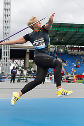 adidas Grand Prix Diamond League professional track & field meet: womens javelin throw, Christina OBERGFÖLL, Germany
