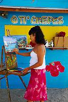 France, Martinique, Sainte Luce, Claudia Perrin, artiste peintre