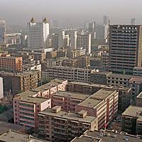 Urumqi, Xinjiang, China. Modern buildings to house new Chinese immigrants to region.