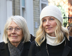 Vanessa Redgrave and her daughter Joely Richardson leaving the funeral of Only Fools and Horses actor Roger Lloyd-Pack who played Trigger in the TV show,  at St.Paul's Church in  London, Thursday, 13th February 2014. Picture by Stephen Lock / i-Images
