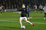 Adam Clayton (8) of Middlesbrough warming up before the The FA Cup match between Newport County and Middlesbrough at Rodney Parade, Newport, Wales on 5 February 2019.