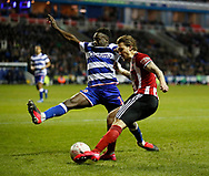 Luke Freeman of Sheffield Utd crosses the ball during the FA Cup match at the Madejski Stadium, Reading. Picture date: 3rd March 2020. Picture credit should read: Simon Bellis/Sportimage