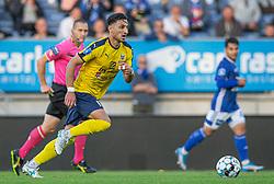 Edgar Babayan (Hobro IK) under kampen i 3F Superligaen mellem Lyngby Boldklub og Hobro IK den 20. juli 2020 på Lyngby Stadion (Foto: Claus Birch).