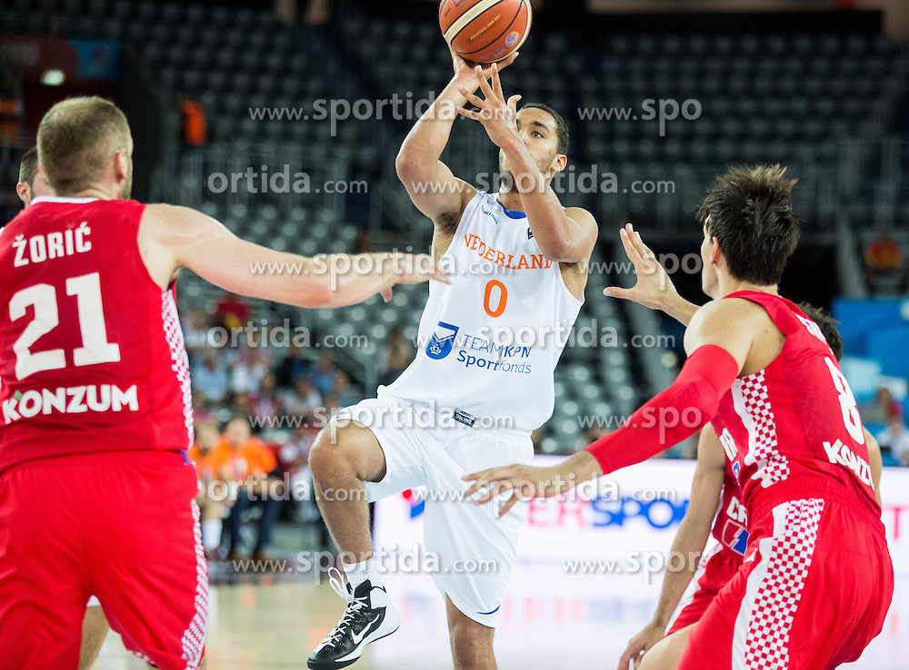 Yannick Franke of Netherlands during basketball match between Netherlands and Croatia at Day 5 in Group C of FIBA Europe Eurobasket 2015, on September 9, 2015, in Arena Zagreb, Croatia. Photo by Vid Ponikvar / Sportida