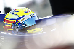 April 13, 2018 - Long Beach, California, United States of America - April 13, 2018 - Long Beach, California, USA: Spencer Pigot (21) sits in his car on pit road during practice for the Toyota Grand Prix of Long Beach at Streets of Long Beach in Long Beach, California. (Credit Image: © Justin R. Noe Asp Inc/ASP via ZUMA Wire)
