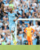 Football - Fernandinho of Manchester City celebrates during the match at the Etihad Stadium between Manchester City and West Ham United. <br /> <br /> 2016 / 2017 Premier League - Manchester City vs. West Ham United<br /> <br /> -- at The Etihad Stadium.<br /> <br /> COLORSPORT/LYNNE CAMERON