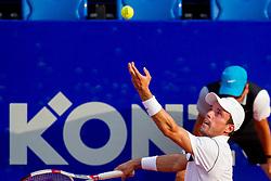 Roberto Bautista-Agut (ESP) during a tennis match against the Joao Sousa (POR) in semi-final round of singles at 26. Konzum Croatia Open Umag 2015, on July 25, 2015, in Umag, Croatia. Photo by Urban Urbanc / Sportida