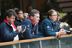 Dan Hughes and Sarah Armstrong<br /> Grade Ib Team Test<br /> Para-Dressage FEI European Championships Deauville 2015<br /> © Hippo Foto - Jon Stroud<br /> 18/09/15