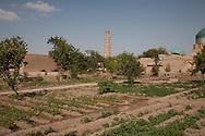 minaret of Juma - friday -mosque,  general view on the old city;   KHIVA  Ouzbekistan  .///.minaret de la mosquee JUMA -du vendredi -  vue generale sur  la vieille ville  KHIVA  Ouzbekistan .///.OUZB56294