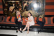 JESSICA ZAMBELETTI; ALLEGRA DONNE, Book party for Janine di Giovanni's Ghosts by Daylight. Blake's Hotel. South Kensington. London. 12 July 2011. <br /> <br />  , -DO NOT ARCHIVE-© Copyright Photograph by Dafydd Jones. 248 Clapham Rd. London SW9 0PZ. Tel 0207 820 0771. www.dafjones.com.