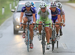 Escape group (at right Matej Stare of Slovenia (Perutnina Ptuj) and Jure Zrimsek of Slovenia (Adria Mobil)) during 3rd stage of the 15th Tour de Slovenie from Skofja Loka to Krvavec (129,5 km), on June 13,2008, Slovenia. (Photo by Vid Ponikvar / Sportal Images)/ Sportida)