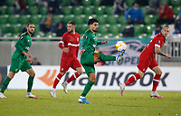 RAZGRAD, BULGARIA - OCTOBER 22: Cauly Souza of Ludogorets comes forward on the ball during the UEFA Europa League Group J stage match between PFC Ludogorets Razgrad and Royal Antwerp at Ludogorets Arena on October 22, 2020 in Razgrad, Bulgaria. (Photo by Nikola Krstic/MB Media)