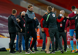 LIVERPOOL, ENGLAND - Saturday, October 31, 2020: Liverpool's manager Jürgen Klopp before the FA Premier League match between Liverpool FC and West Ham United FC at Anfield. The game was played behind closed doors due to the UK government's social distancing laws during the Coronavirus COVID-19 Pandemic. (Pic by Propaganda)