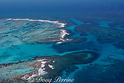 aerial view of Gladden Spit, a finger of the Belize Barrier Reef where currents attract fish spawning aggregations, near Placencia, Stann Creek District, Southern Belize, Central America ( Caribbean ),  Gladden Spit and Silk Cayes Marine Reserve