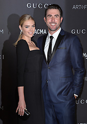 Kate Upton and Justin Verlander attend the 2016 LACMA Art + Film Gala honoring Robert Irwin and Kathryn Bigelow presented by Gucci at LACMA on October 29, 2016 in Los Angeles, California. Photo by Lionel Hahn/AbacaUsa.com