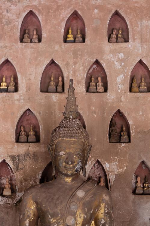 Buddha statues, Wat Si Saket, Vientiane, Laos. Photo © robertvansluis.com