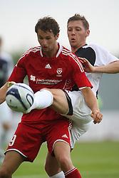 Proschwitz & Burton O'Brein.<br /> Falkirk v FC Vaduz, Europa League Qualifying.<br /> ©2009 Michael Schofield. All Rights Reserved.