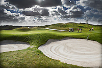 AMSTERDAM -Schiphol - Hole 1 van The International golfbaan van BurgGolf, COPYRIGHT KOEN SUYK
