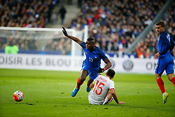 29.03.2016, Stade de France, St. Denis, FRA, Testspiel, Frankreich vs Russland, im Bild pogba paul, shirokov roman // during the International Friendly Football Match between France and Russia at the Stade de France in St. Denis, France on 2016/03/29. EXPA Pictures © 2016, PhotoCredit: EXPA/ Pressesports/ Sebastian Boue<br /> <br /> *****ATTENTION - for AUT, SLO, CRO, SRB, BIH, MAZ, POL only*****