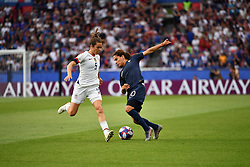 June 28, 2019 - Paris, ile de france, France - Amel MAJRI (FRA) in action during the first period of the quarter-final between FRANCE vs USA in the 2019 women's football World cup at Parc des Princes in Paris, on the 28 June 2019. (Credit Image: © Julien Mattia/NurPhoto via ZUMA Press)