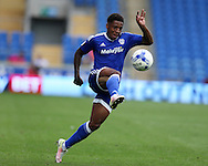 Kadeem Harris of Cardiff city in action.  EFL Skybet championship match, Cardiff city v Reading at the Cardiff city stadium in Cardiff, South Wales on Saturday 27th August 2016.<br /> pic by Andrew Orchard, Andrew Orchard sports photography.