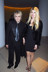 NICK RHODES and MEREDITH OSTROM at 'Not Another Burns Night' in association with CLIC Sargebt and Children's Hospice Association Scotland held at ST.Martins Lane Hotel, London on 3rd March 2008.<br /><br />NON EXCLUSIVE - WORLD RIGHTS