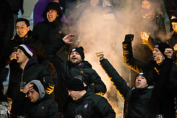 Viole, supporters of Maribor during football match between NK Domzale and NK Maribior in 18th Round of Prva liga Telekom Slovenije 2018/19, on November 11, 2018 in Sportni Park, Domzale, Slovenia. Photo by Vid Ponikvar / Sportida