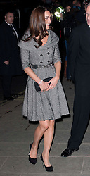 The Duchess of Cambridge arriving at the National Portrait Gallery in London, Wednesday 8th February 2012. Photo by: Stephen Lock / i-Images