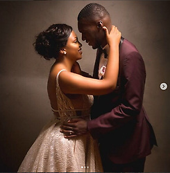 July 17, 2017 - Brussels, BELGIUM - ATTENTION EDITORS - HAND OUT PICTURES - EDITORIAL USE ONLY ....Hand out pictures released on Monday 17 July 2017, by Christian Benteke through his Instagram account, shows Christian Benteke and his wife Fortune on their wedding day, 08 July 2017...BELGA PHOTO HAND OUT (Credit Image: © Hand Out/Belga via ZUMA Press)