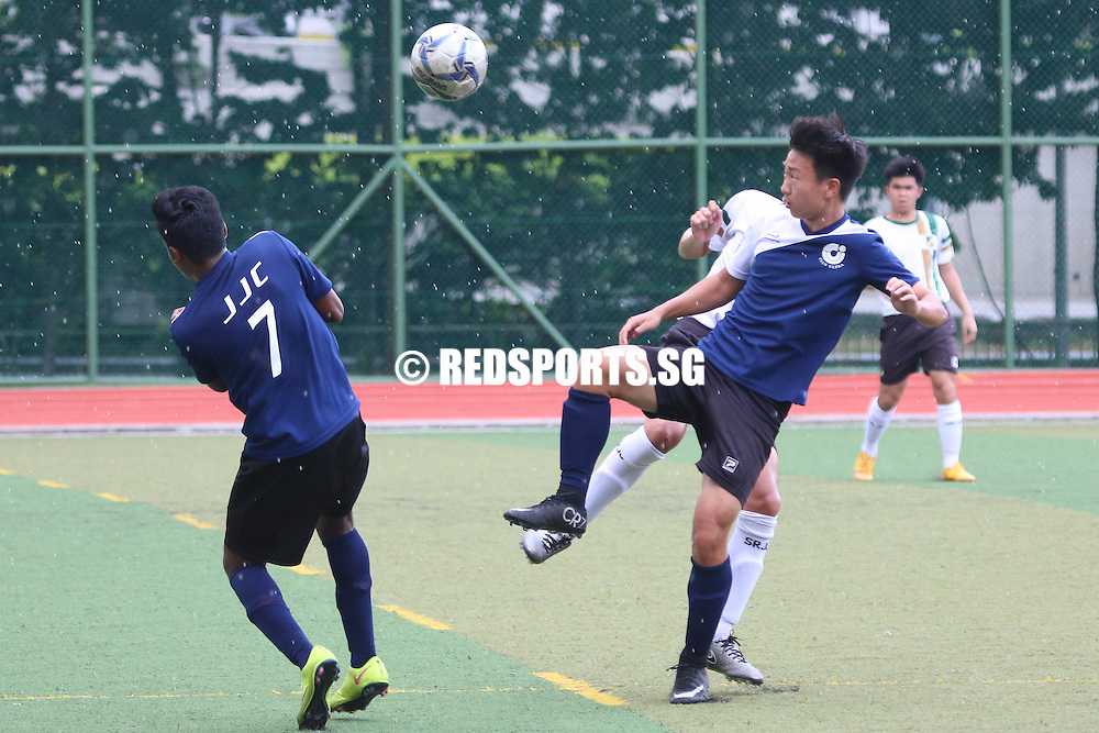 St Andrew's Junior College, Tuesday, April 5, 2016 — Jurong Junior College (JJC) fought back from two goals down to secure a draw against Serangoon Junior College (SRJC) in the National A Division Football Championship.
