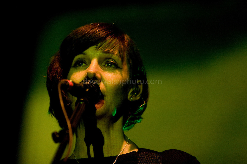 Bilinda Butcher of My Bloody Valentine at the Electric Arena tent, Electric Picnic 2008, Stradbally, Laois, Ireland. The avant garde indie outfit dropped from view in the early 90s, My Bloody Valentine in 2008 for series of rare appearances - the first in 13th years. .