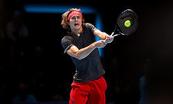 Alexander Zverev during the men's singles match during day six of the Nitto ATP Finals at The O2 Arena, London.