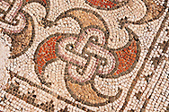 4th cent. AD geometric floor mosaics of the late Roman period Jewish synagogue of Sardis.  Sardis archaeological site, Hermus valley, Turkey. Discovered in 1962 as part of an on going  Harvard Art Museum excavation project. .<br /> <br /> If you prefer to buy from our ALAMY PHOTO LIBRARY  Collection visit : https://www.alamy.com/portfolio/paul-williams-funkystock/sardis-archaeological-site-turkey.html<br /> <br /> Visit our CLASSICAL WORLD HISTORIC SITES PHOTO COLLECTIONS for more photos to download or buy as wall art prints https://funkystock.photoshelter.com/gallery-collection/Classical-Era-Historic-Sites-Archaeological-Sites-Pictures-Images/C0000g4bSGiDL9rw
