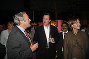 RUSSELL EDEY, DAVID CAMERON, Launch of Tat Modern's rehang of its permanent Collection in partnership with UBS. Tate Modertn. 23 May 2006. ONE TIME USE ONLY - DO NOT ARCHIVE  © Copyright Photograph by Dafydd Jones 66 Stockwell Park Rd. London SW9 0DA Tel 020 7733 0108 www.dafjones.com