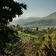 A valley near Karya Binayak temple, a famous place for newly married couple to visit, on the edge of Kathmandu.