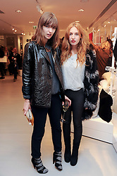 Left to right, VALENTINE FILLOL CORDIER and JOSEPHINE DE LA BAUME at the H&M Home Launch held at 174-176 Oxford Street, London W1 on 2nd November 2010.