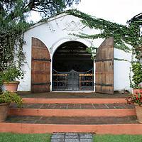 South America, Ecuador, Cotacachi. La Mirage Garden Hotel Chapel