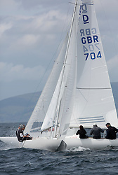 International Dragon Class Scottish Championships 2015.<br /> <br /> Day 1 racing in perfect conditions.<br /> <br /> GBR793, HARRY, Mike Budd, SCYC\<br /> <br /> <br /> Credit Marc Turner