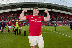 May 20, 2017 - Limerick, Irland - Dave Kilcoyne of Munster celebrates after the Guinness PRO12 Semi-Final match between Munster Rugby and Ospreys at Thomond Park Stadium in Limerick, Ireland on May 20, 2017  (Credit Image: © Andrew Surma/NurPhoto via ZUMA Press)