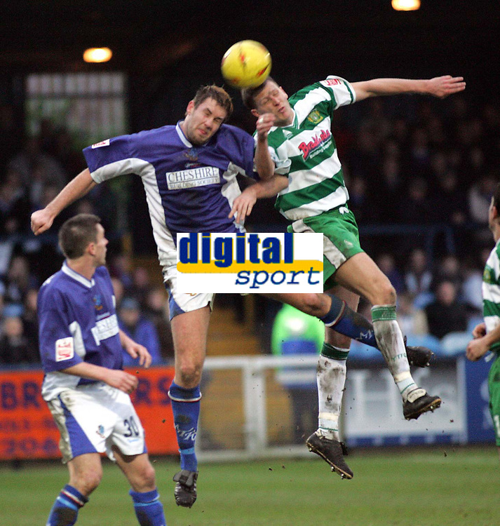 Fotball<br /> England 2004/2005<br /> Foto: SBI/Digitalsport<br /> NORWAY ONLY<br /> <br /> Macclesfield Town v Yeovil Town<br /> Macclesfield. Coca Cola League Two. <br /> 05/02/2005. <br /> <br /> Jon Parkin and Kevin Gall