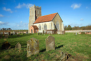 The Church of St Mary, Letheringham, Suffolk, England, now in the middle of far buildings is all that remains of an ancient priory on this site.