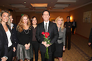 Israel, Jerry Seinfeld (holding the roses) actor comedian in a visit to Israel November 25th 2007