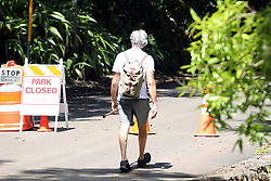 EXCLUSIVE: Pierce Brosnan out for a hike in Hawaii on his own during the Covid19 lockdown. 20 Apr 2020 Pictured: Pierce Brosnan out for a hike in Hawaii on his own during the Covid19 lockdown. Photo credit: MEGA TheMegaAgency.com +1 888 505 6342